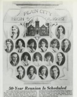 Plain City Senior Class of 1922