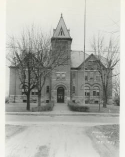 Last picture of Plain City High School and grade school before it was razed in 1936